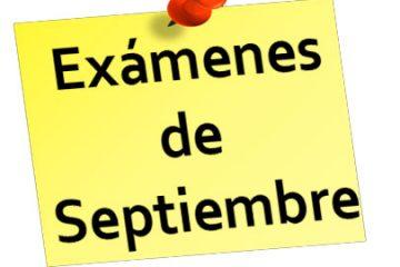Fechas y horarios de los exámenes de septiembre del curso 2020-21