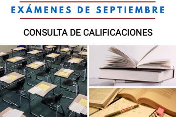 Consulta de las calificaciones de los exámenes de septiembre