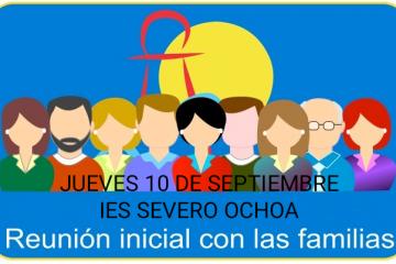El jueves 10 de septiembre se llevarán a cabo las primeras reuniones informativas telemáticas con las familias