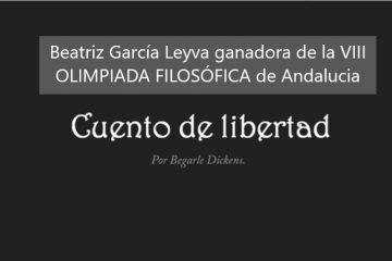 Beatriz García Leyva ganadora del primer premio de la VIII Olimpiada de Filosofía de Andalucía