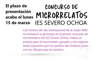 Primer Concurso de Microrrelatos #8M del IES Severo Ochoa