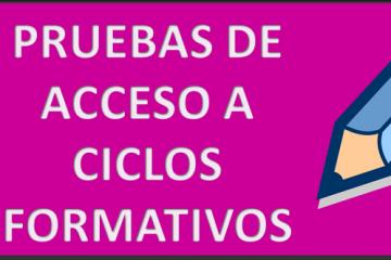 Se convocan las pruebas de acceso a Ciclos Formativos de Formación Profesional