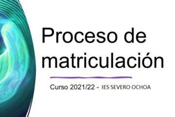 Matricula para la ESO y Bachillerato 2021-2022